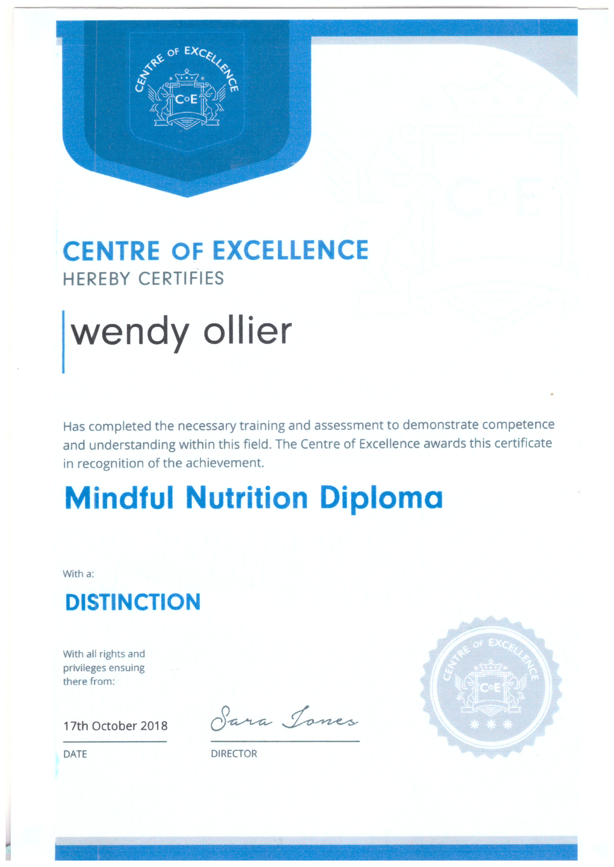 Nutritionist at nosc qualification 8